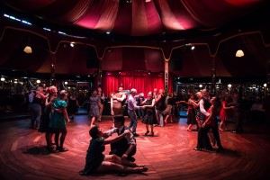 Tasswing social at Spiegeltent